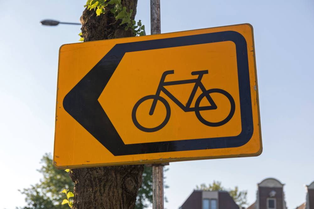 Detour bike sign the Netherlands