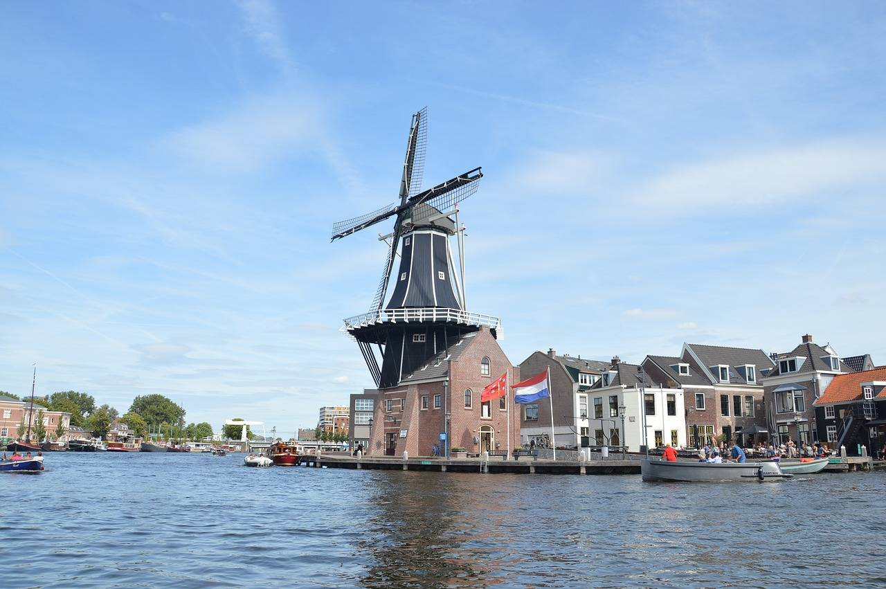 Windmill in Haarlem Netherlands by the w