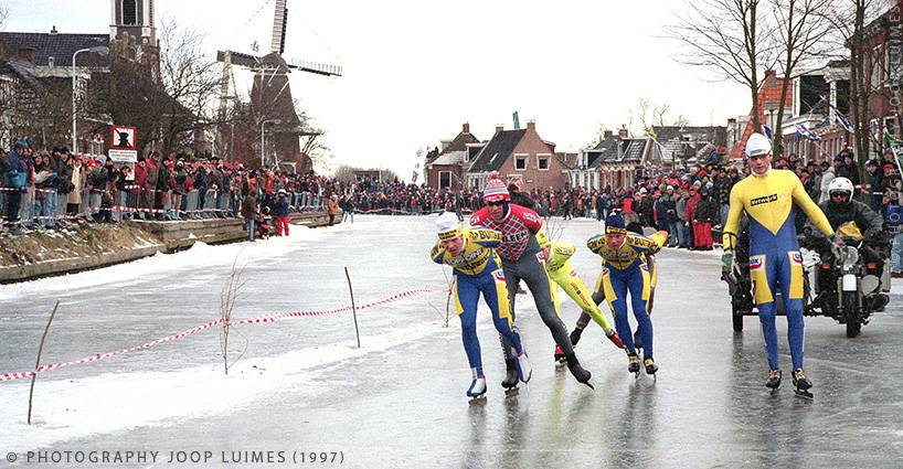 Dutch ice skating the Elfstedentocht win